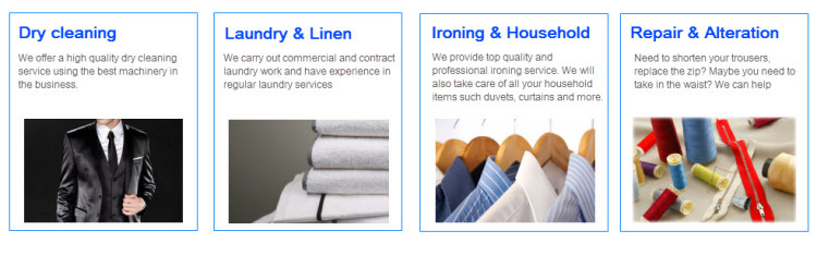 Dry Clean Banner page